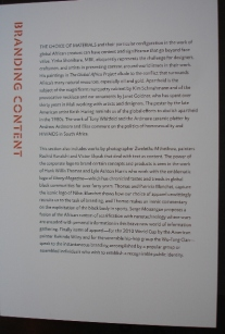 Global Africa project zaal tekst branding MAD Museum New York 2011