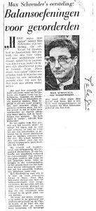 Max Schreuder recensie telegraaf