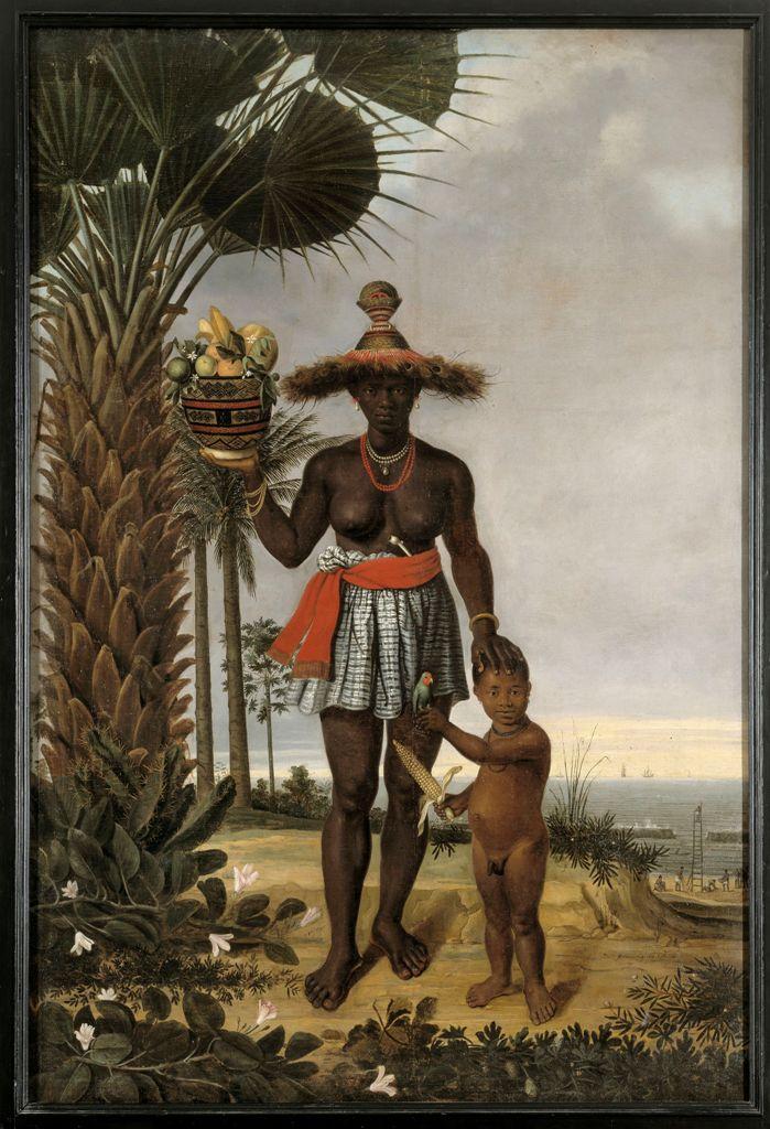 Albert Eckhout Afrikaanse vrouw en kind