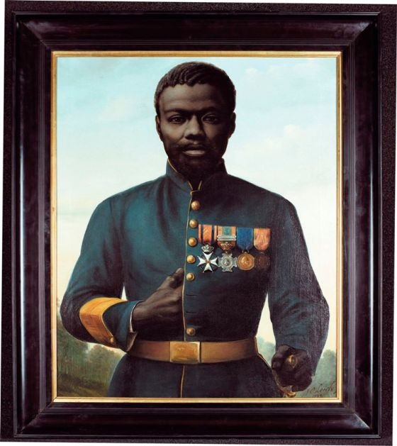 Johan Coenraad Leich, Portret van Jan Kooij, 1882, coll Bronbeek