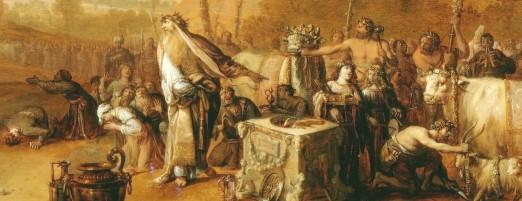 Breenbergh Paul en Barnabas in Lystra detail 2