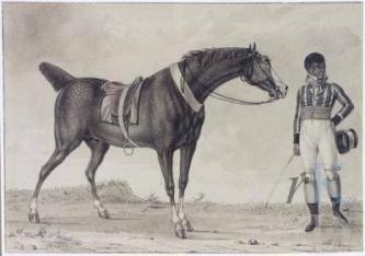Reinier Vinkeles Man en paard Christies