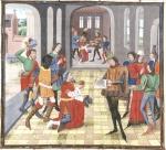 Ambassadeurs van de Grote Khan bij koning Mabrien Loyset Liedet 1468-1470 Bayerische st Bibl Munchen