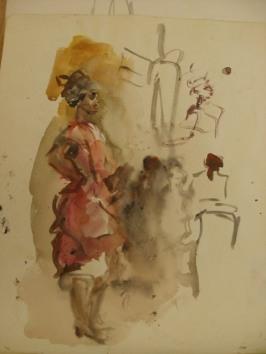 Danseres Isaac Israels coll Gemeentemuseum Den Haag