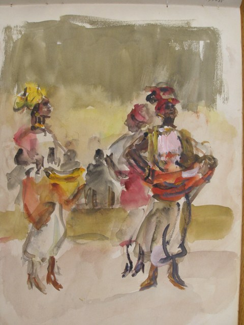 Danseressen Isaac Israels coll Gemeentemuseum Den Haag