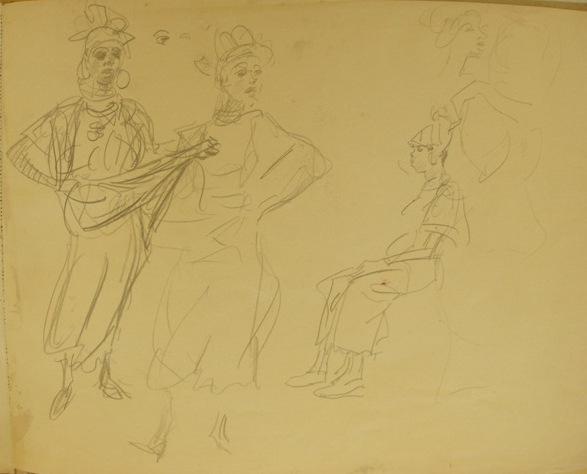 Danseressen Isaac Israëls coll gemeente museum Den Haag
