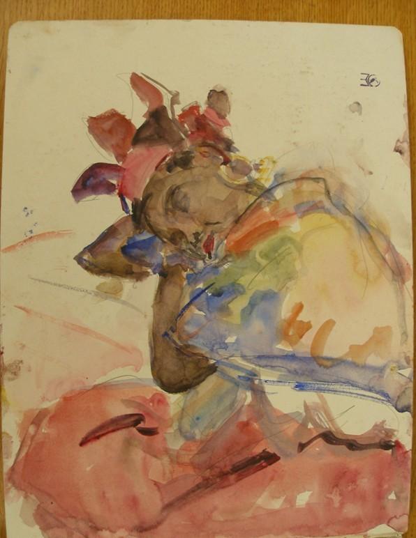 Slapende vrouw Isaac Israëls Gemeente museum Den Haag
