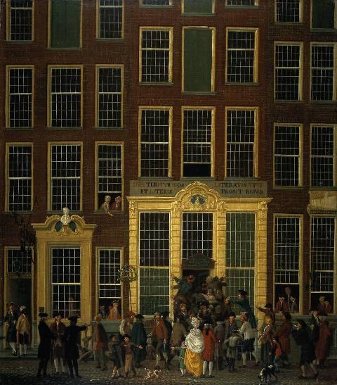 Isaac Ouwater loterijkantoor 1779 collectie Rijksmuseum Amsterdam