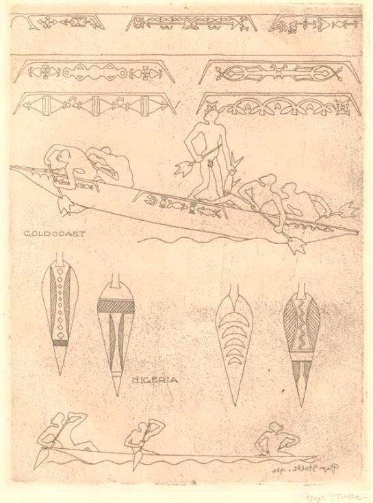 Reijer Stolk Boot en peddels collectie Gemeente Museum Den Haag