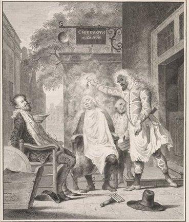 Troost Arlequin als barbier Rijksmuseum