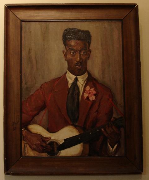 Frits Schiller De gitarist uit Curacao nachtclubspeler op het Rembrandtplen