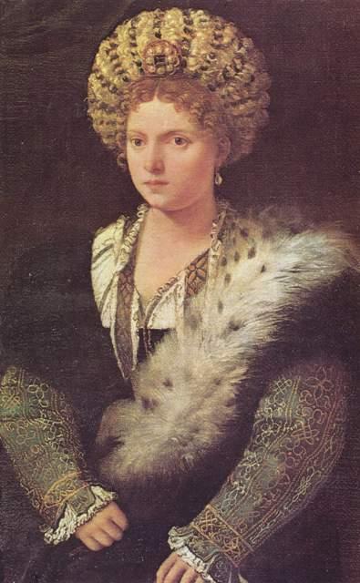 Titiaan portret van Isabella d'Este (1474 - 1539)