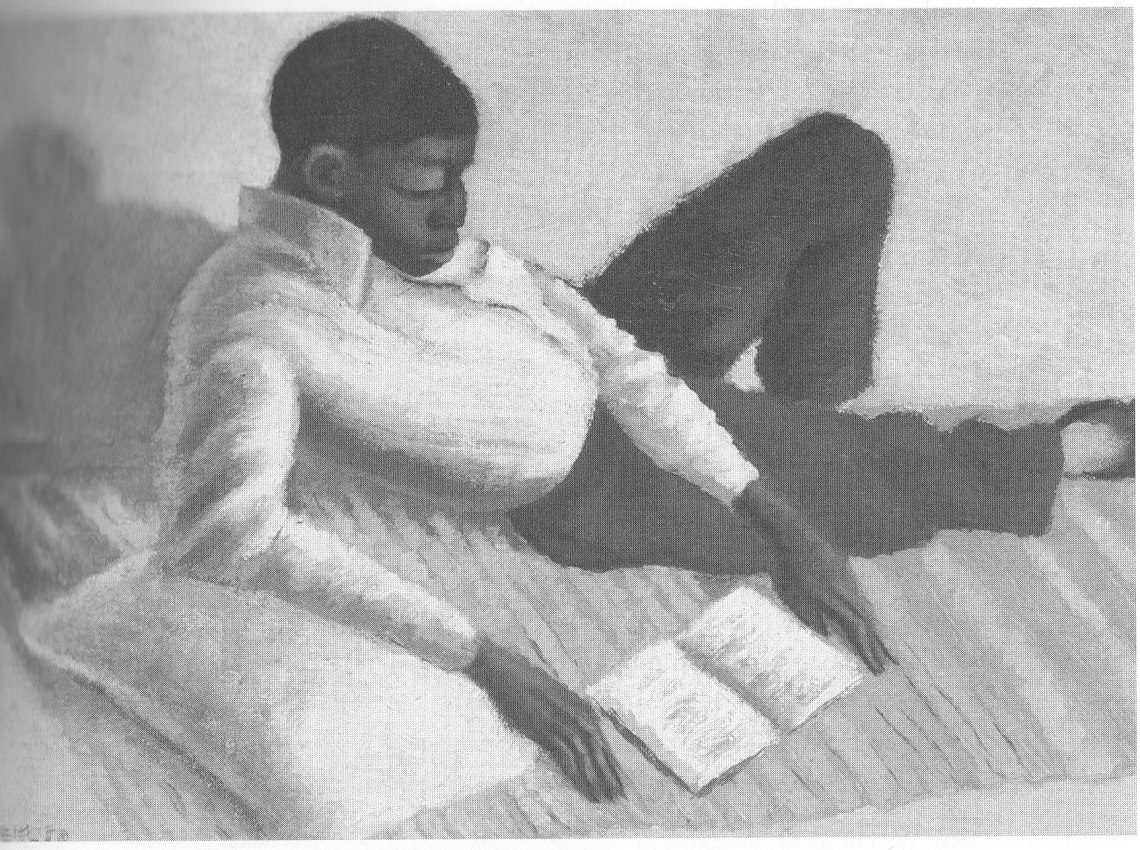 gerard-sekoto-reading-man