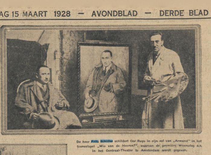 1928 Algemeen Handelsblad Cor Ruys Frits Schiller