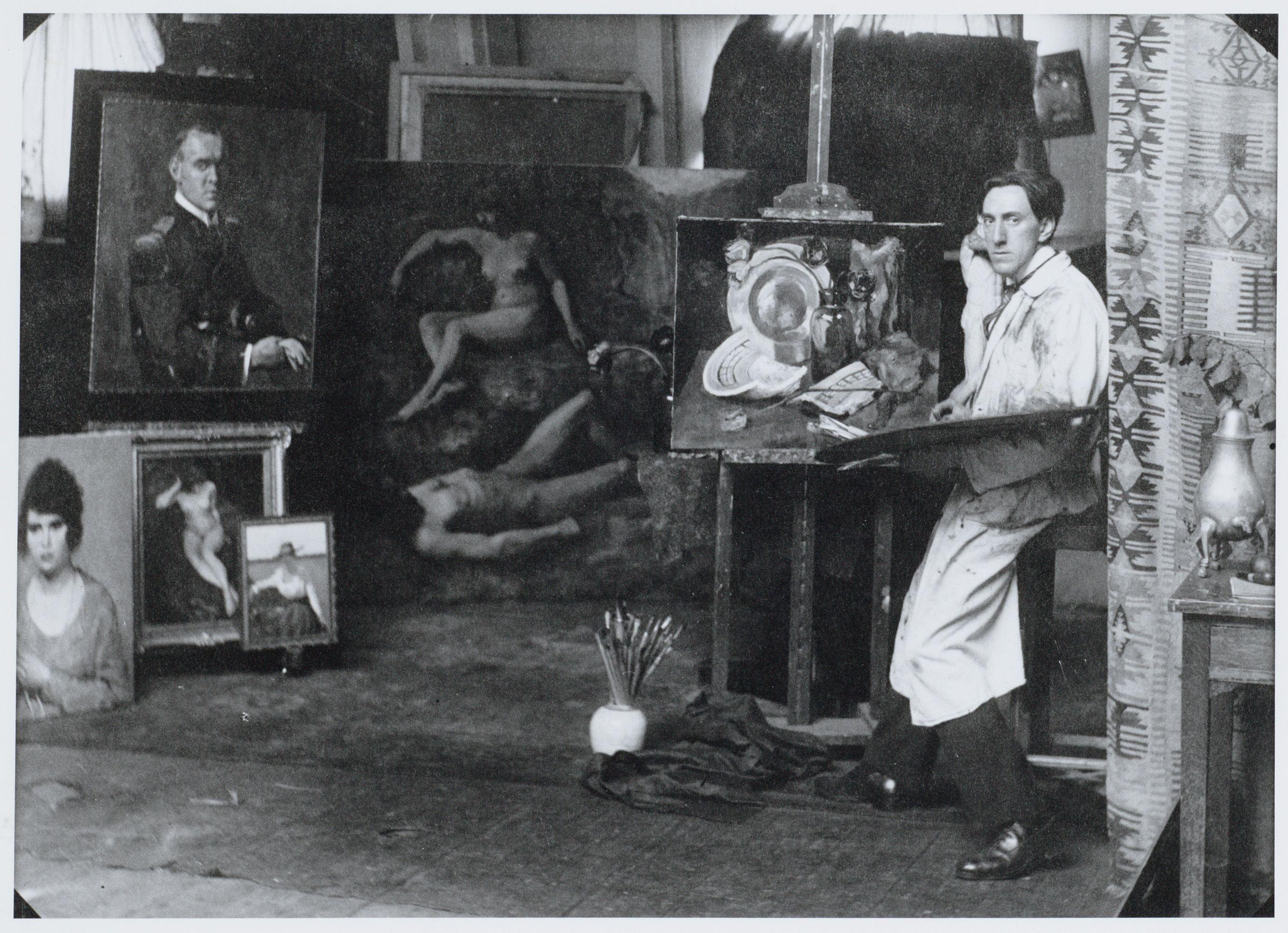 Frits Schiller in atelier