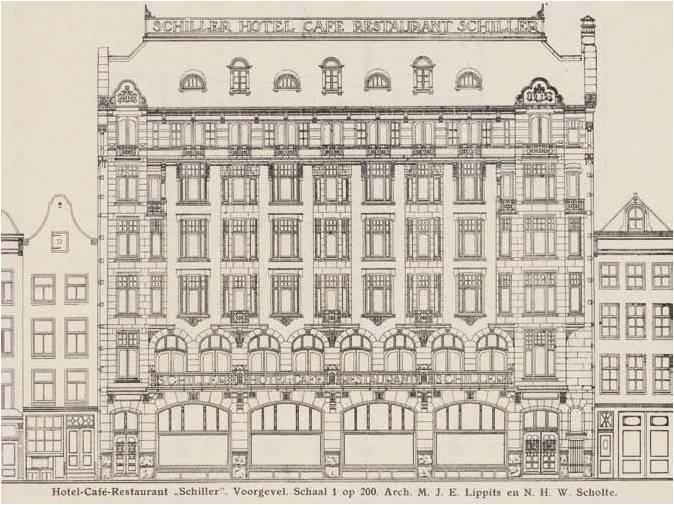 Hotel Schiller bouwtekeing collectie Stadsarchief