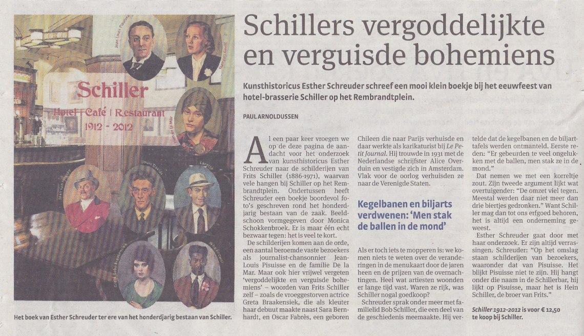 Schiller in Parool boekje 26-11-2012