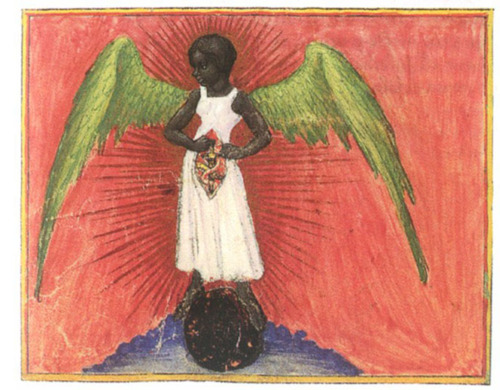 Black Angel in Aurora Consurgens