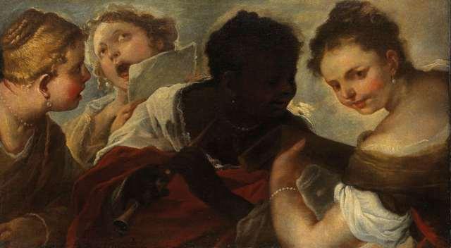 Vier musicerende vrouwen Luca Giordano.1658 collection Rijksmuseum Amsterdam