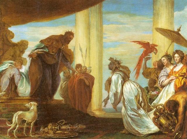 Jan Boeckhorst. Queen Sheba and Solomon, collection Antwerp