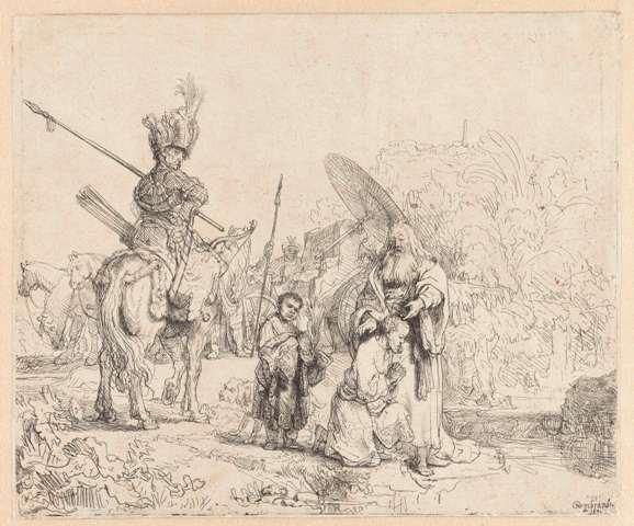 De doop van de kamerling, Rembrandt Harmensz. van Rijn, 1641 collection Rijksmuseum Amsterdam