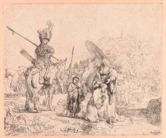De doop van de kamerling, Rembrandt Harmensz. van Rijn, 1641 RP-P-1987-185