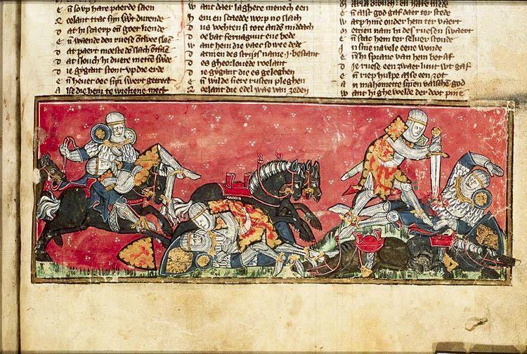 Pagin 214 Spiegel Historiael.