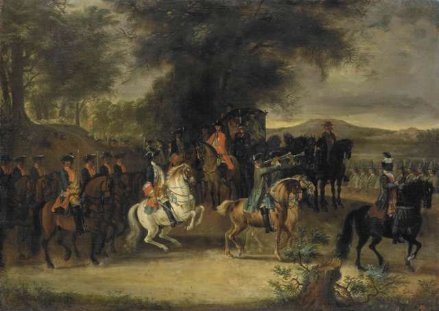 Cornelis Troost 1742Inspecting a cavalry unit