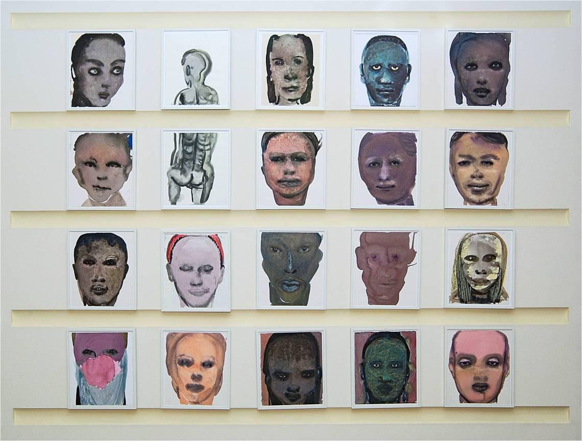 Marlene Dumas, Gekleurde Tekeningen 1997, coll Tropenmuseum Amsterdam