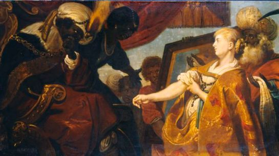 Karel van Mander III Persina and Hydaspes recognise thier daughter Chariclea