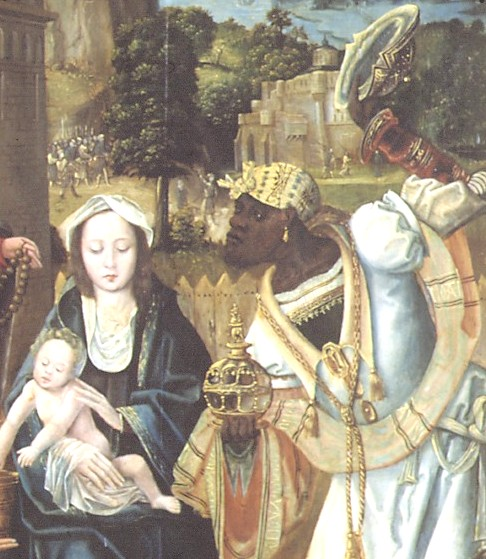 aanbidding der wijzen Hospitaalmuseum detail