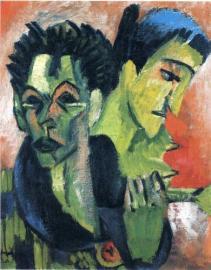 Ernst Ludwig Kirchner douple-self-portrait