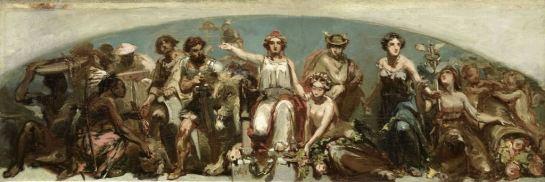 De koloniën brengen hulde aan de Nederlandse maagd, Charles Rochussen, 1852 SK-A-4935