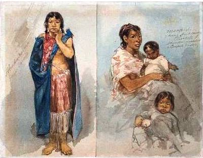 lenka-ka-ma,,Moen-di & haar dochtertje Elisabeth, Hindoe moeder, Caraïb vader, Rochussen 2