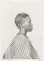 Portret van Elisabeth Oldenberg, en profil, Roland Napoleon Bonaparte, Roche, A. Quantin, 1883 - 1884 RP-F-1994-12-56