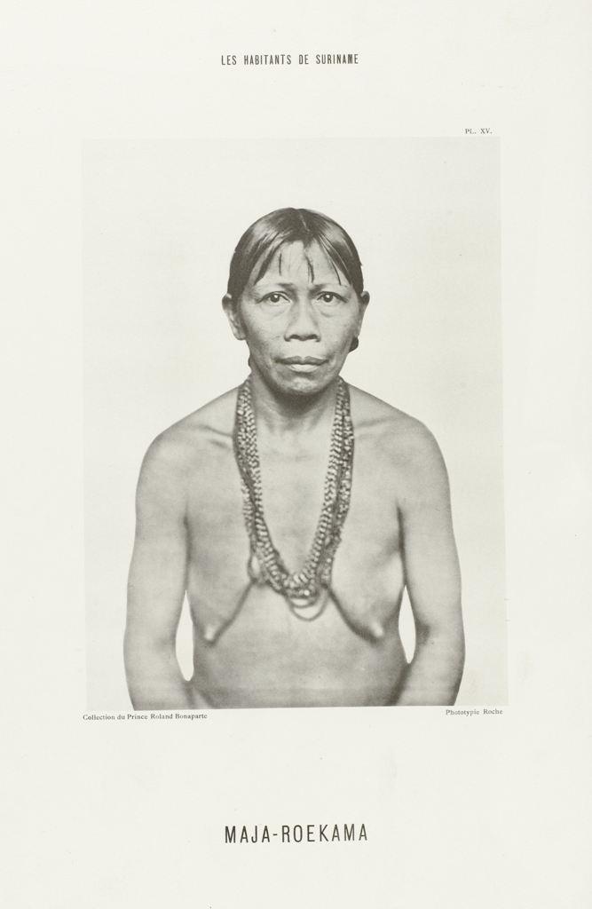 Portret van Maja-Roekama, en face, Roland Napoleon Bonaparte, Roche, A. Quantin, 1883 - 1884 RP-F-1994-12-20
