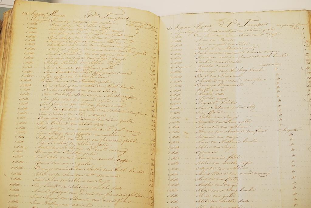 DSC_2706 namen van slaven in Bonaire Nationaal Archief