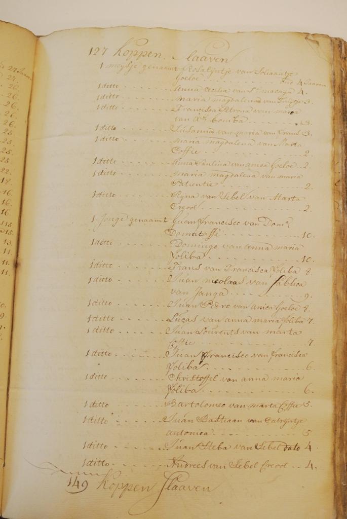 DSC_2709 namen ouders leeftijden van slaven op Bonaire