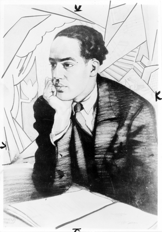 Langston Hughes by Winold Reiss in The New Negro