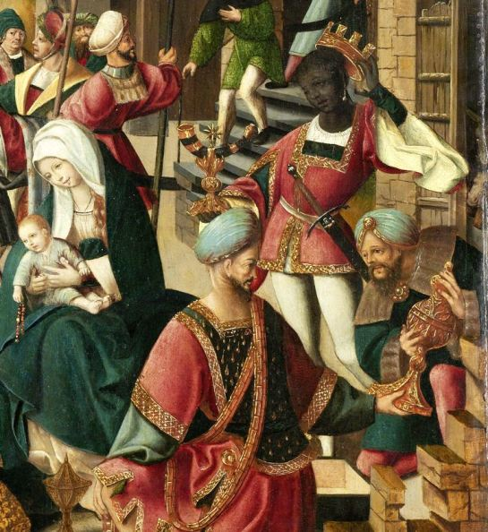 De aanbidding der koningen, atelier van Jacob Cornelisz. van Oostsanen, ca. 1510 - ca. 1515 SK-A-3324 collectie Rijksmuseum