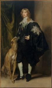 Anthony van Dijck, Portret van James Stuart, hertog van Lennox en Richmond met zijn hond, coll Metropolitan Museum