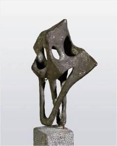 Lotti van der Gaag, Gatepaan, 1958 bronze sculpture Ambassade Hotel