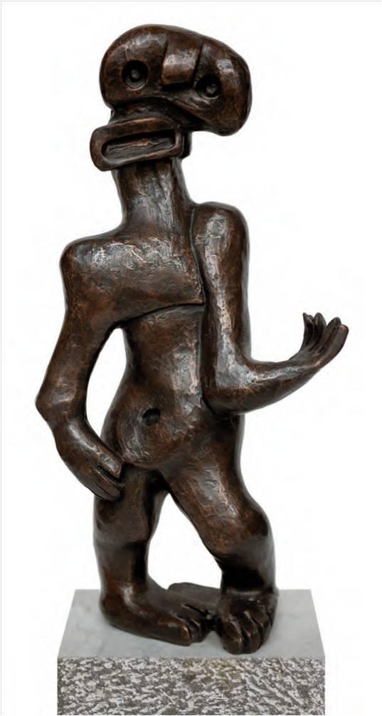Lotti van der Gaag Homage to Henry Moore L'homme avec laye bouche 1949 Ambassade Hotel
