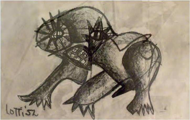 Lotti van der Gaag Untitled 1952 drawing Ambassade Hotel Collection