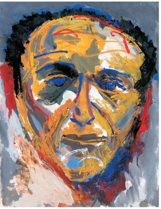 Portret Theo Wolvecamp door Karel Appel