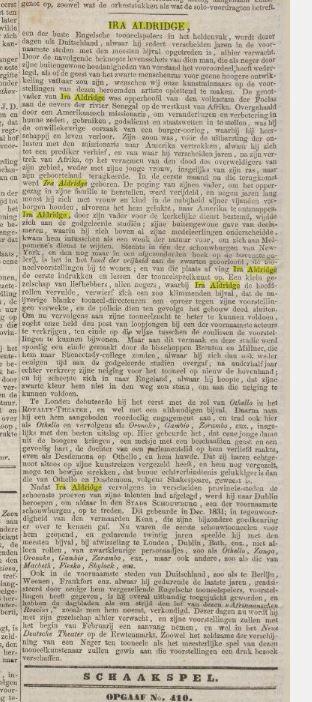 29-1-1855 Ira Aldrigde artikel