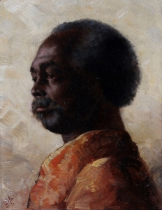 Portret van Man in rood kostuum