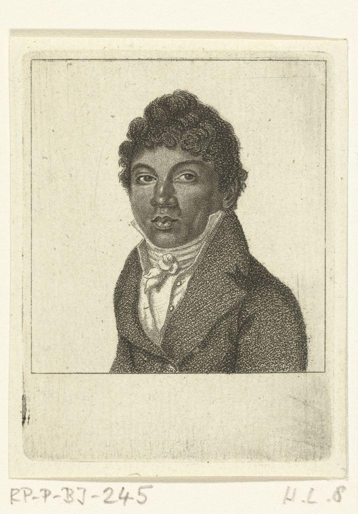 Portret van Richard de bediende van de kunstenaar, Ernst Willem Jan Bagelaar, 1798 - 1837 RP-P-BI-245