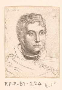 Portretbuste van Ernst Willem Jan Bagelaar, Ernst Willem Jan Bagelaar, Jan Willem Pieneman, 1798 - 1837 RP-P-BI-224