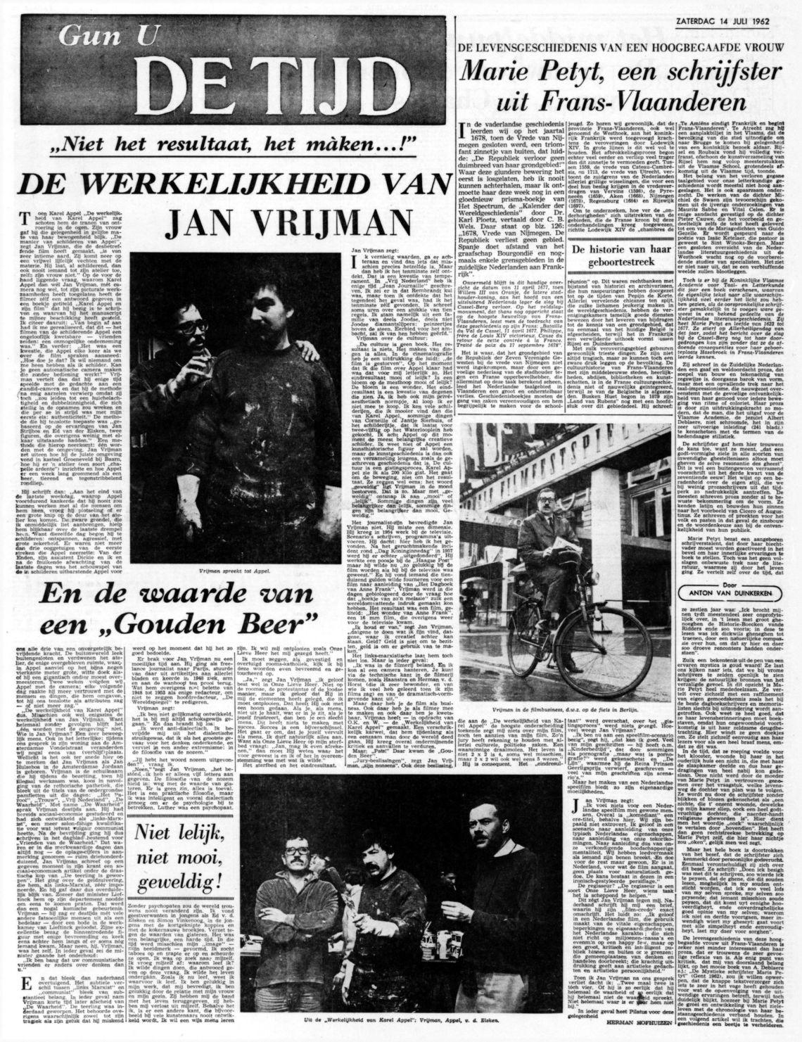 De Tijd De Maasbode 14-7-1962